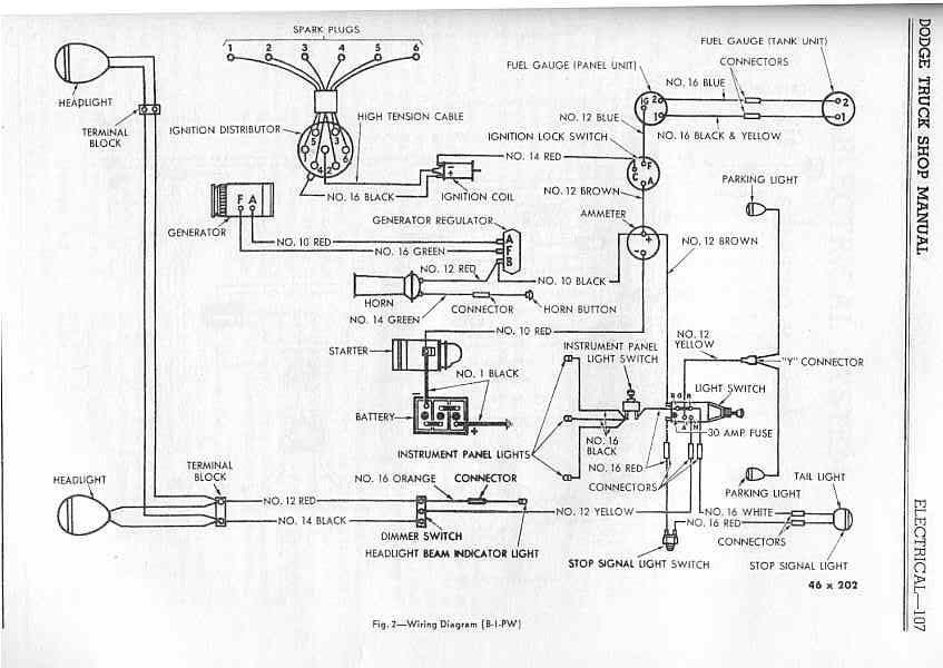 1960 Dodge D100 Wiring Diagram | Wiring Diagram on